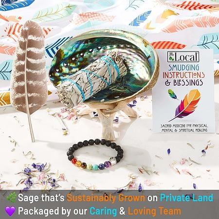 White Sage Smudging Kit Smudge Stick Gift Kit + Instructions & Blessings (Beginner's Kit)