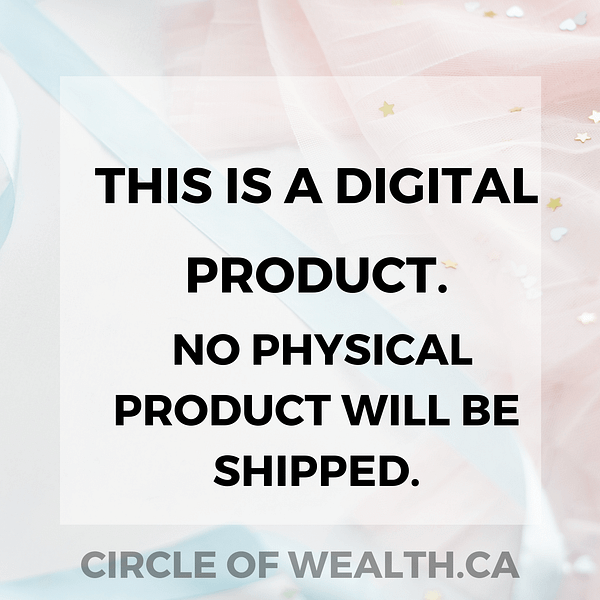 This is a Digital product. No Physical product will be shipped.
