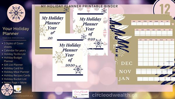 Holiday Christmas Planner