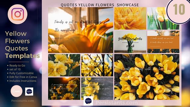 Yellow Flowers Inspirational Instagram Quotes