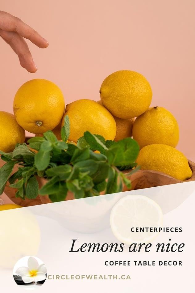 Lemons are nice centerpiece ideas