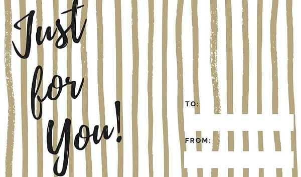 Just for you good Tidings to you Gold Striped Holiday Gift Tags Collection