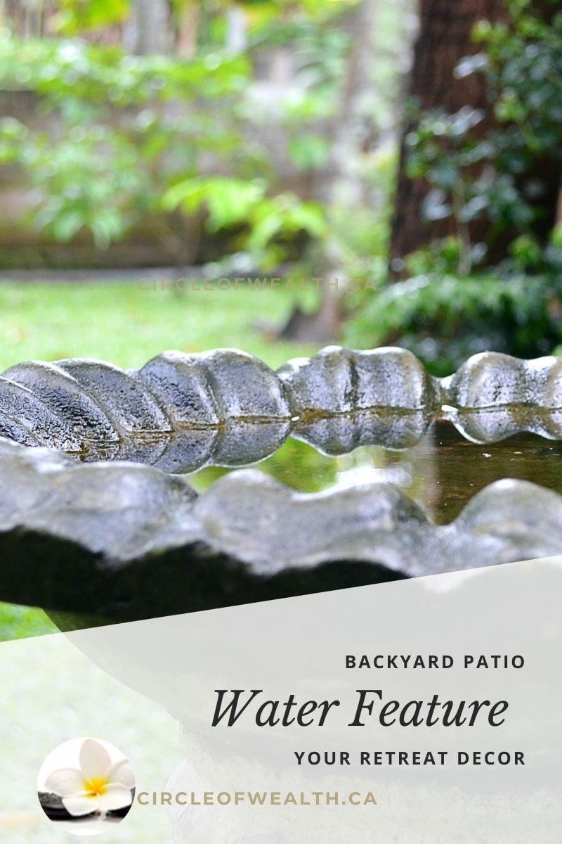 COW ZeN Backyard & Patio Retreat Water bird bath