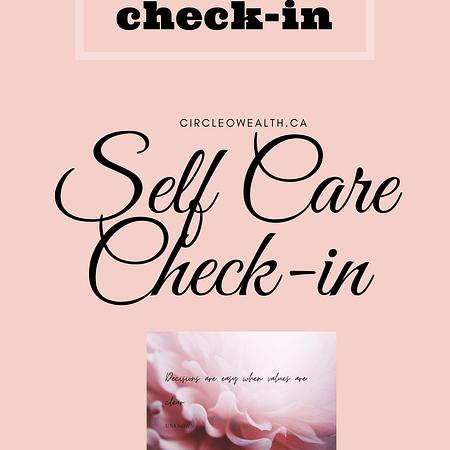 self care Check in Checklist guide