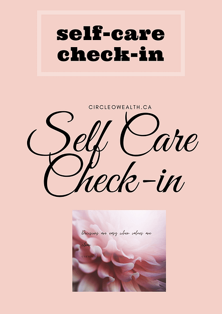 self care Check in Checklist guide
