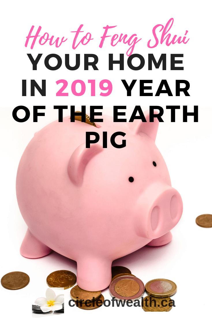 2019 Happy New Year Yin Earth Pig