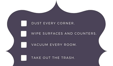 Weekend Home Cleaning Checklist for you from Circleofwealth.ca Who else wants a n organized home