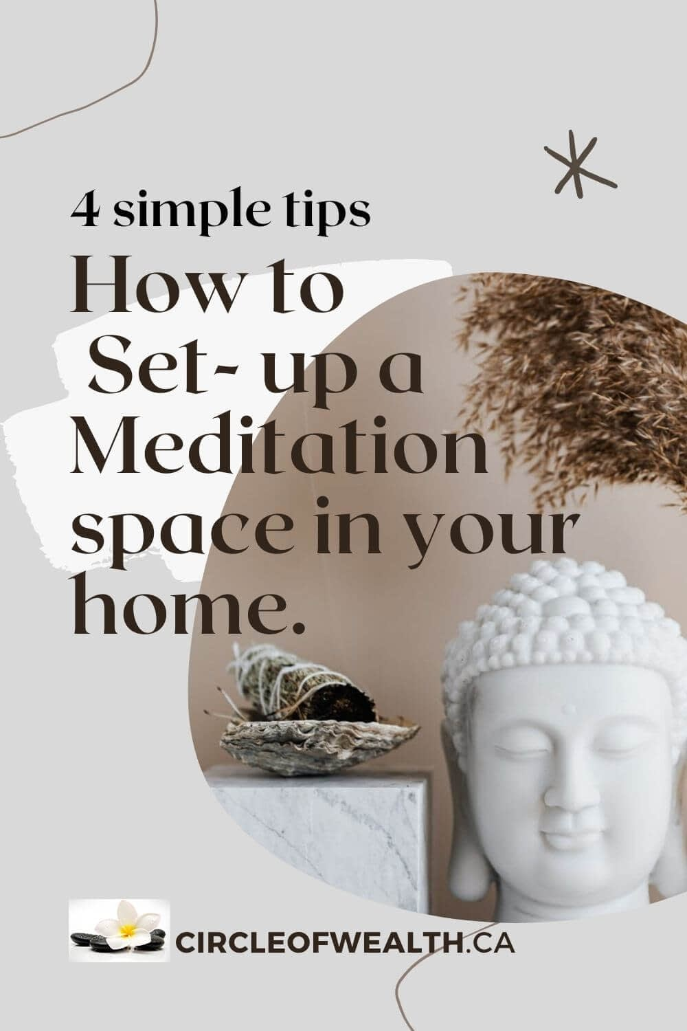 4 simple tips How to Set up a Meditation SPace in your Home