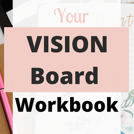 Lawof Attraction Vision Board & manifestation Workbook
