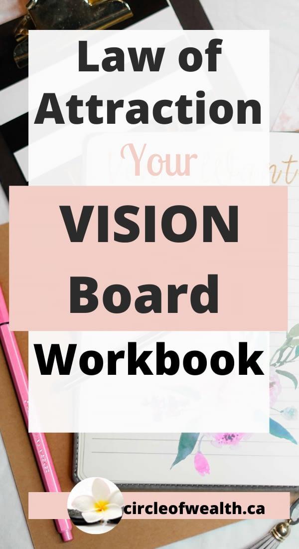 Lawof Attraction Vision Board & manifestation Workbook