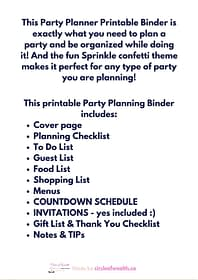 What's included in Your Holiday Planner