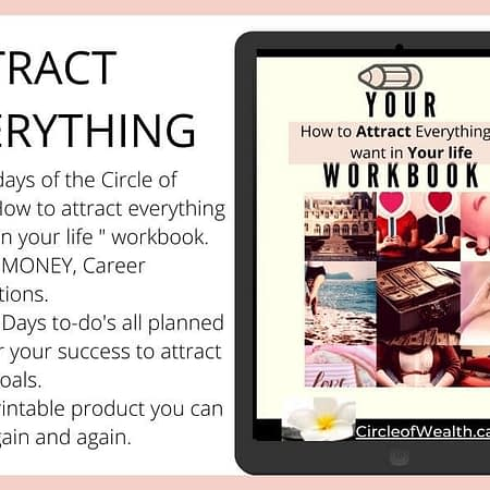 CircleofWealth 21 day challenge workbook a must have to guide you.