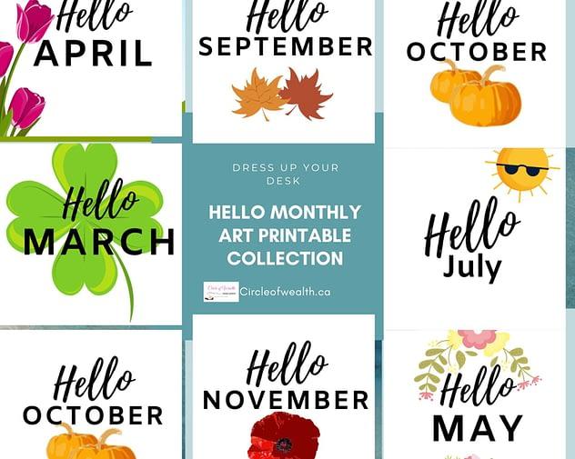 Hello Monthly Home Art