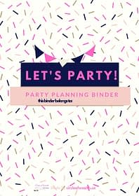 Let's Party Printable Binder