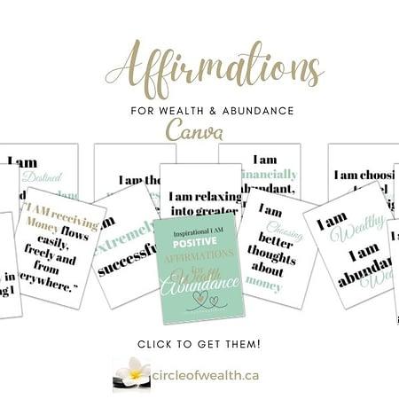 I am affirmations for Wealth and Abundance showcase